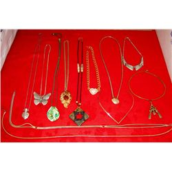 12 Gold & Silver Toned Thick Heavy Necklaces