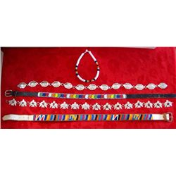 Native Style Beaded/Concho Belts & Beaded Necklace