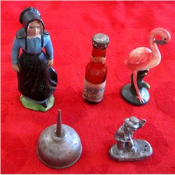 Small Cast Iron Figures & Misc Items
