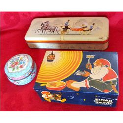 Lot of 3 Vintage Foreign Tins