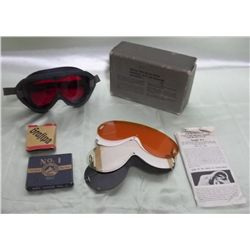 WWII M-1944 US Army Goggles w/Lenses & More