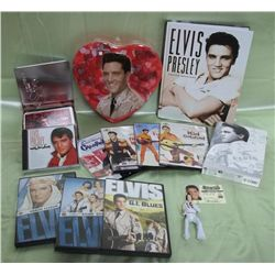 Elvis Presley Lot - DVD's, Book, CD & More