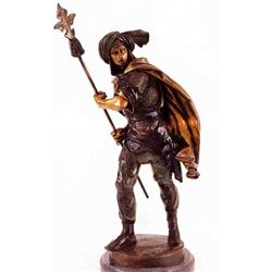 """Persian Soldier"" Bronze Sculpture - Pieaut"