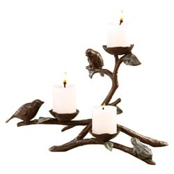 Frog And Birds Candleholder