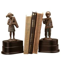 "Girl And Boy ""A To Z"" Bookends"