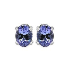 0.65 Carat Genuine Tanzanite .925 Sterling Silver Earrings