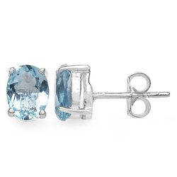 3.20 Carat Genuine Blue Topaz .925 Sterling Silver Earrings