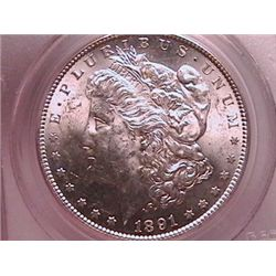 1891-S Morgan Silver Dollar PCGS MS62