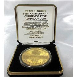 50th Anniversary Pearl Harbor $20 Proof Coin
