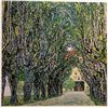 Gustave Klimt AVENUE IN SCHLOSS KAMMER PAPER Signed Limited Ed. Lithograph