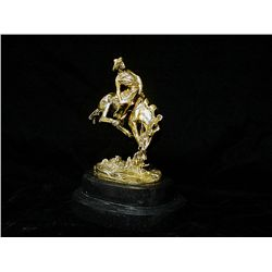 Remington Limited Edition 24K Gold Layered Bronze  Sculpture   -Outlaw