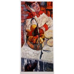 Pierre Bonnard WOMAN WITH A BASKET of FRUIT  Signed Limited Ed. Lithograph
