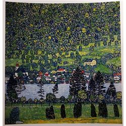 Gustave Klimt FOREST SLOPE in UNTERACH Signed Limited Ed. Lithograph