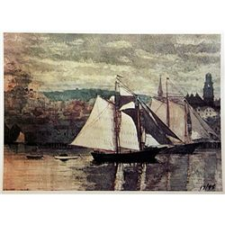 Winslow Homer GLOUCESTER SCHOONERS AND SLOOP Signed Limited Ed. Lithograph