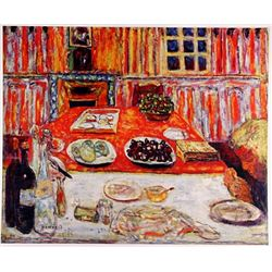 Pierre Bonnard INTERIOR - DINING ROOM  Signed Limited Ed. Lithograph