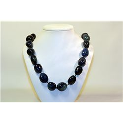 Unisex Beautiful  All Natural Stones  .Blue Lapis Necklace