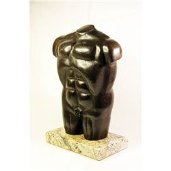 Botero   Original limited Edition Bronze Sculpture - Male Torso -
