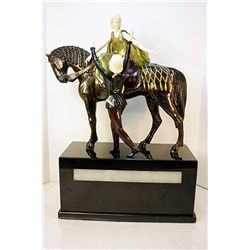 Romeo and Juliette - Bronze and Ivory Sculpture by Poertzel