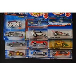 Mattel Hot Wheels Cars; Various Dates & Cars; Lot of 10; EST. $30-50