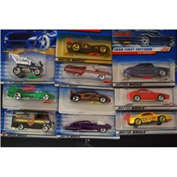 Mattel Hot Wheels Cars; Various Dates & Cars; Lot of 10; EST. $30-40
