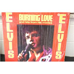 1972 RCA Records; Elvis-Burning Love & Hits From His Movies; EST. $10-20