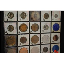 Various Tokens, Wooden Nickels, Medals, Etc.; Lot of 20; EST. $30-50