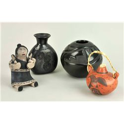 Dona Rosa Coyote - Southwestern Pots and Storyteller (4 items)