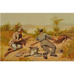 Frederic Remington - Wild Geese Shooting
