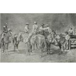 George B. Marks - Cowboys in the Corral