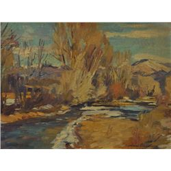Charles Berninghaus - Stream Through the Cottonwoods