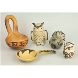 - Hopi, Acoma, Cochiti, Santo Domingo, and Zia Pueblos (5 items)