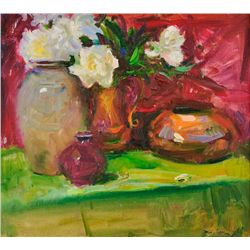 Rod Goebel - Peonies, Copper &amp; Ceramics