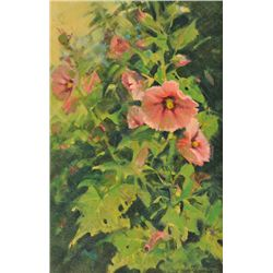 Jim Morgan - Backyard Hollyhocks