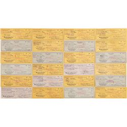 COLLECTION OF (24) CHECKS SIGNED BY CECIL B. DE MILLE, 1942-1956