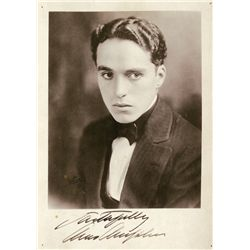CHARLES CHAPLIN PHOTOGRAPH SIGNED
