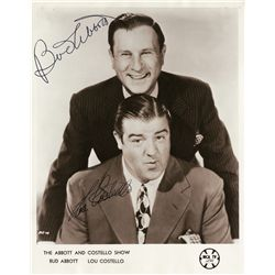 BUD ABBOTT AND LOU COSTELLO PHOTOGRAPH SIGNED BY BOTH