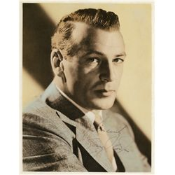 GARY COOPER SIGNED HAND-TINTED PHOTOGRAPH