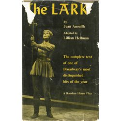 THE LARK 1ST NOVELIZATION OF LILLIAN HELLMAN PLAY, SIGNED BY BORIS KARLOFF AND MOST OF CAST