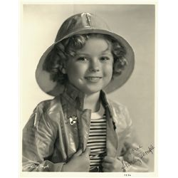 SHIRLEY TEMPLE EARLY SIGNED PORTRAIT