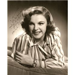 JUDY GARLAND OVERSIZE PHOTOGRAPH SIGNED