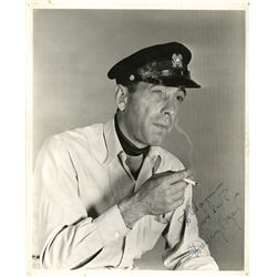 "HUMPHREY BOGART SIGNED PHOTOGRAPH IN CHARACTER AS ""HARRY MORGAN"""