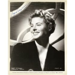 INGRID BERGMAN SIGNED 1943 PORTRAIT