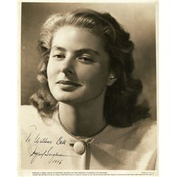 INGRID BERGMAN SIGNED 1946 PORTRAIT