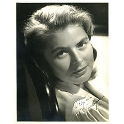 INGRID BERGMAN SIGNED PORTRAIT DATED 1946