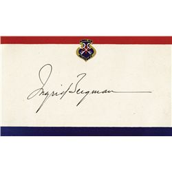COLLECTION OF (6) INGRID BERGMAN CLIPPED SIGNATURES