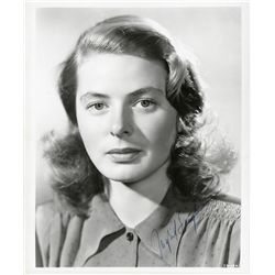 INGRID BERGMAN SIGNED PORTRAIT
