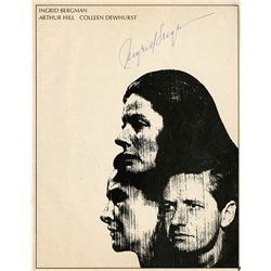 (2) INGRID BERGMAN SIGNED THEATRE PROGRAM