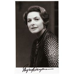 INGRID BERGMAN 4 X 6 ½ SIGNED PORTRAIT