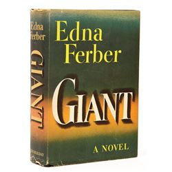 GIANT 1ST EDITION INSCRIBED & SIGNED BY JAMES DEAN, ELIZABETH TAYLOR, ROCK HUDSON & OTHER CAST