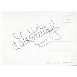 WALT DISNEY SIGNATURE ON VINTAGE AUSTRIAN POSTCARD